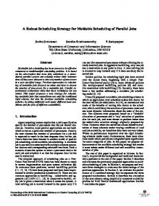 A robust scheduling strategy for moldable scheduling of parallel jobs ...