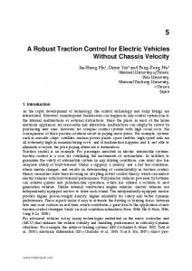 A Robust Traction Control for Electric Vehicles Without ... - IntechOpen