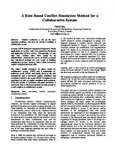 A Role-Based Conflict Resolution Method for a Collaborative System