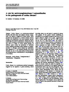 A role for anti-transglutaminase 2 autoantibodies in the pathogenesis ...