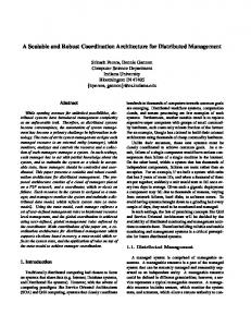 A Scalable and Robust Coordination Architecture for Distributed ...