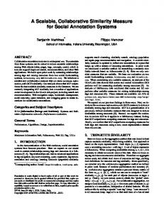 A Scalable, Collaborative Similarity Measure for Social Annotation ...
