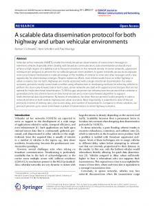 A scalable data dissemination protocol for both highway and urban ...