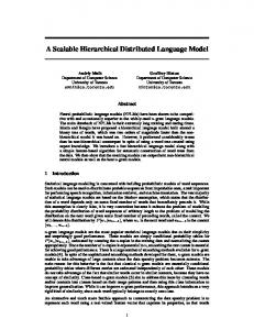 A Scalable Hierarchical Distributed Language Model