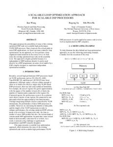 a scalable loop optimization approach for scalable ... - Semantic Scholar