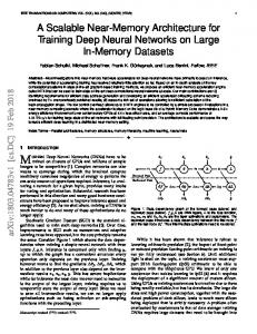 A Scalable Near-Memory Architecture for Training Deep Neural ... - arXiv