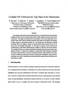 A Scalable P2P Architecture for Topic-Based Event Dissemination