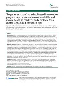 a school-based intervention program to promote