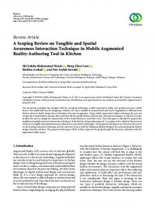 A Scoping Review on Tangible and Spatial Awareness Interaction ...