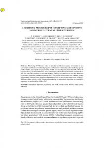 A SCREENING PROCEDURE FOR IDENTIFYING ... - Springer Link