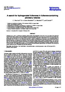 A search for hydrogenated fullerenes in fullerene-containing planetary