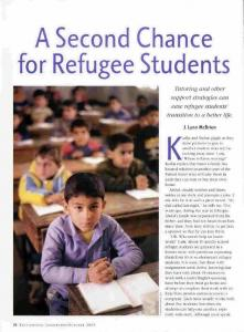 A Second Chance for Refugee Students.