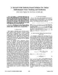 A Second-Order-Statistics-based Solution for Online ... - IEEE Xplore