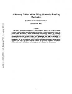 A Secretary Problem with a Sliding Window for Recalling Applicants