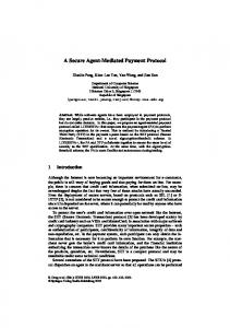 A Secure Agent-Mediated Payment Protocol - Springer Link
