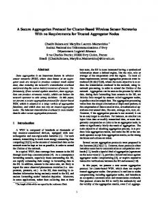 A Secure Aggregation Protocol for Cluster-Based Wireless Sensor