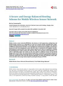 A Secure and Energy-Balanced Routing Scheme for Mobile Wireless ...