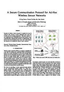A Secure Communication Protocol for Ad-Hoc Wireless ... - CiteSeerX