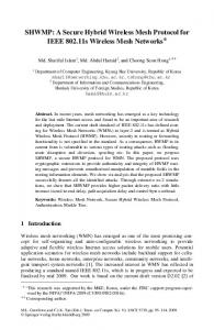 A Secure Hybrid Wireless Mesh Protocol for IEEE ... - Springer Link