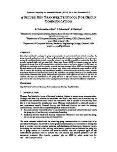 a secure key transfer protocol for group ... - Semantic Scholar