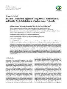 A Secure Localization Approach Using Mutual Authentication and ...