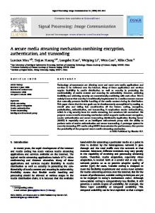 A secure media streaming mechanism combining encryption ...