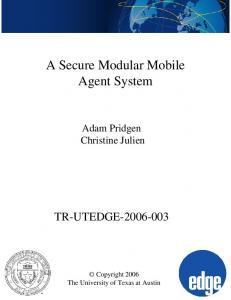 A Secure Modular Mobile Agent System
