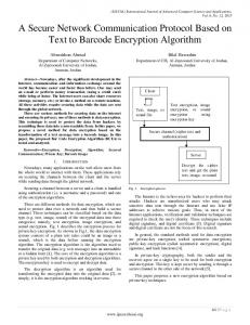 A Secure Network Communication Protocol Based on Text to Barcode
