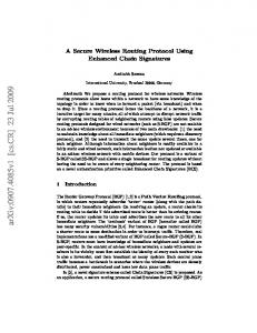 A Secure Wireless Routing Protocol Using Enhanced Chain Signatures