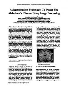 A Segmentation Technique To Detect The Alzheimer's Disease Using ...