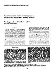 A seismic refraction and reflection study across the ...