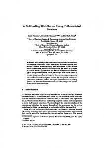 A Self-healing Web Server Using Differentiated ... - Semantic Scholar