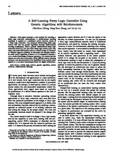 A Self-learning Fuzzy Logic Controller Using Genetic Algorithms With ...