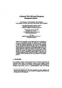 A Semantic Web GIS based Emergency Management System*