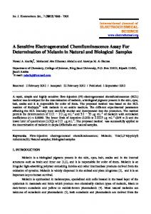 A Sensitive Electrogenerated Chemiluminescence Assay For ...