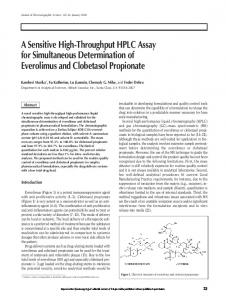 A Sensitive High-Throughput HPLC Assay for Simultaneous ...