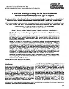 A sensitive phenotypic assay for the determination ... - Oxford Academic