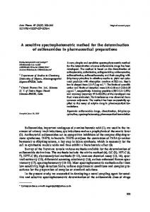 A sensitive spectrophotometric method for the determination of ...