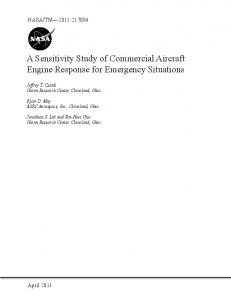 A Sensitivity Study of Commercial Aircraft Engine Response for ...