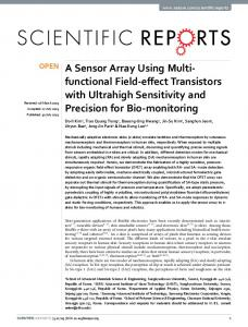 A Sensor Array Using Multi-functional Field-effect Transistors with ...
