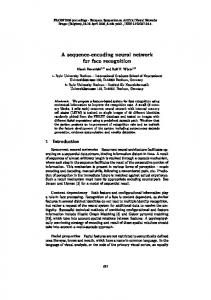 A sequence-encoding neural network for face recognition - UCL/ELEN
