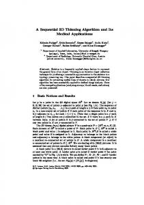 A Sequential 3D Thinning Algorithm and Its