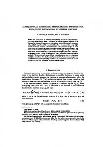 A SEQUENTIAL QUADRATIC PROGRAMMING METHOD FOR ... - Core