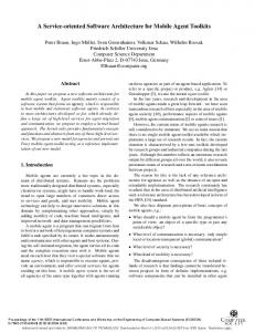 A service-oriented software architecture for mobile ... - Semantic Scholar