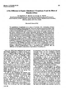 A Sex Difference in Hepatic Glutathione S-Transferase ... - Europe PMC