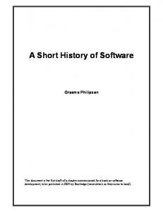 A Short History of Software