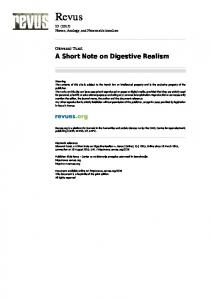 A Short Note on Digestive Realism