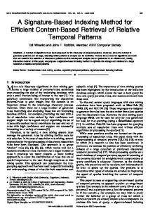 A Signature-Based Indexing Method for Efficient Content ... - IEEE Xplore
