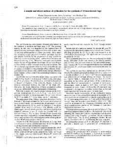 A simple and direct method of cyclization for the ...