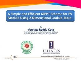 A Simple and Efficient MPPT Scheme for PV Module ...
